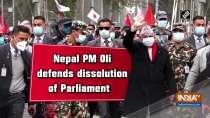 Nepal PM Oli defends dissolution of Parliament