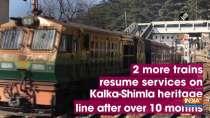 2 more trains resume services on Kalka-Shimla heritage line after over 10 months