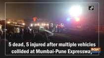 5 dead, 5 injured after multiple vehicles collided at Mumbai-Pune Expressway