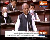 Union Agriculture Minister Narendra Singh Tomar speaks in Rajya Sabha over farm laws