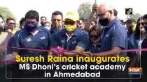 Suresh Raina inaugurates MS Dhoni
