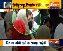 Priyanka Gandhi meets the family members of the farmer who lost his life during the tractor rally