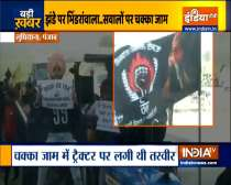 Bhindranwale flag spotted on a tractor during 'Chakka jam' protest in Ludhiana