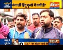 Devotees stage protest after Goddess Saraswati idol vandalised ahead of visarjan in Bengal