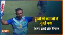 Prithvi Shaw finishes with record 827 runs as Mumbai lift 4th Vijay Hazare Trophy title