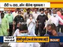 Mamata Banerjee holds roadshow in Nandigram ahead of filing nomination