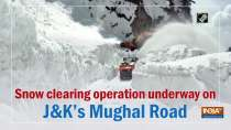 Snow clearing operation underway on J&K