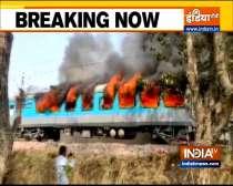 Massive fire break out at Delhi-Dehradun Shatabdi Express