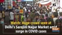 Watch: Huge crowd seen at Delhi