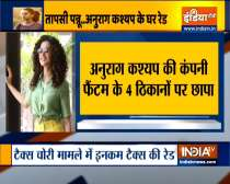 Income Tax raids underway at residence of film director Anurag Kashyap and actor Taapsee Pannu