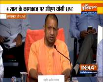 Uttar Pradesh: CM Yogi Adityanath addresses media on 4th anniversary of BJP govt