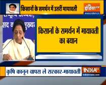 BSP chief Mayawati comes out in support of farmers, urge govt to roll back the farm laws