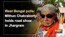 West Bengal polls: Mithun Chakraborty holds road show in Jhargram