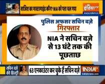 Ambani security scare: NIA arrests Mumbai police officer Sachin Waze