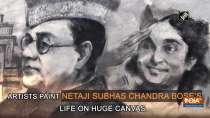Artists paint Netaji Subhas Chandra Bose