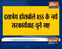 VIDEO: Dattatreya Hosabale becomes new RSS general secretary