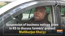 Suspension of business notices given in RS to discuss farmers