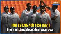 IND vs ENG 4th Test Day 1: England batsmen struggle against Axar again as India dominate 1st session