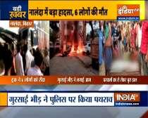 6 killed as truck rams into shops in Bihar