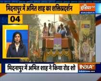 Chunav 50: Union home minister Amit Shah holds roadshow in Medinipur