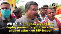 WB polls: Pradhan urges EC to deploy paramilitary forces after alleged attack on BJP leader