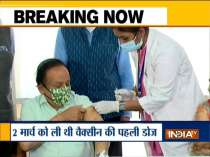 Health Minister Harsh Vardhan receives second dose of COVID-19 vaccine