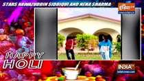 Nawazuddin Siddiqui and Neha Sharma celebrates Holi in hilarious style