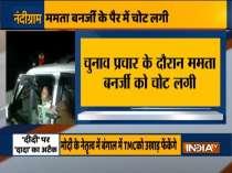 Mamata Banerjee suffers leg injury while campaigning in Nandigram