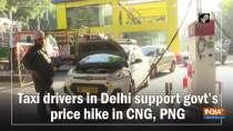 Taxi drivers in Delhi support govt