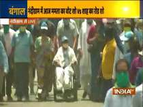 West Bengal: CM Mamata Banerjee leads padyatra in Bhagabeda of Nandigram
