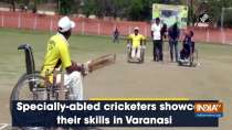 Specially-abled cricketers showcase their skills in Varanasi