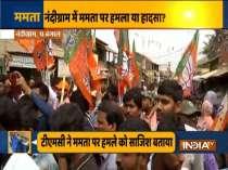 Mamata Banerjee attacked: TMC, BJP workers protest in Nandigram