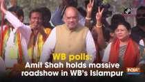 WB polls: Amit Shah holds massive roadshow in WB
