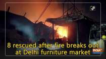 8 rescued after fire breaks out at Delhi furniture market