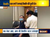 India TV Editor-in-Chief Rajat Sharma takes 2nd dose of Covid vaccine
