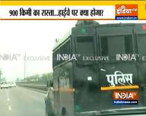 A team of UP Police leaves from Rupnagar jail with Mukhtar Ansari for Banda