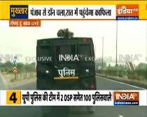 Don Mukhtar Ansari enroute for Uttar Pradesh jail amid high security