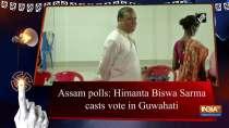 Assam polls: Himanta Biswa Sarma casts vote in Guwahati