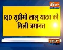 Jharkhand High Court grants bail to RJD leader Lalu Prasad Yadav in Fodder scam case