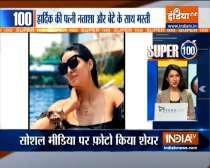 Super 100| Hardik, Natasa have a blast at Krunal Pandya