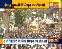 Bengal polls 2021: BJP leader Mithun Chakraborty holds a road show in Hooghly