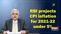 RBI projects CPI inflation for 2021-22 under 5%