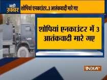 Jammu & Kashmir: 3 terrorists killed in Shopian encounter
