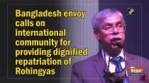 Bangladesh envoy calls on international community for providing dignified repatriation of Rohingyas
