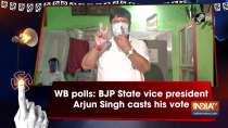 WB polls: BJP State vice president Arjun Singh casts his vote