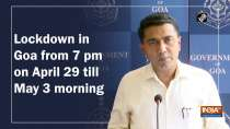 Lockdown in Goa from 7 pm on April 29 till May 3 morning