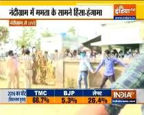 Clashes errupt between TMC, BJP workers in Nandigram