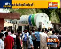 As hospitals run out of oxygen, kin of patients line-up outside oxygen plants in Greater Noida