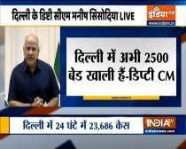 Top Big News   There are still 2500 bed available in Delhi hospitals, says Manish Sisodia