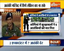 5 terrorists killed in encounter with security forces in J&K